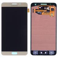 Модуль (сенсор и дисплей) Samsung Galaxy A3 2015 A300FU / A300H / A300F золотой (яркость регулируется) gold, фото 1