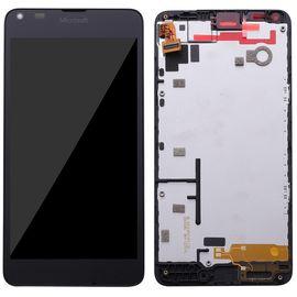 Модуль (сенсор и дисплей) Nokia Lumia 640 с рамкой черный, MSS04019  фото 1
