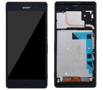 Модуль (сенсор и дисплей) Sony Xperia Z3 D6603 / D6633 / D6643 / D6653 черный с рамкой, фото 1
