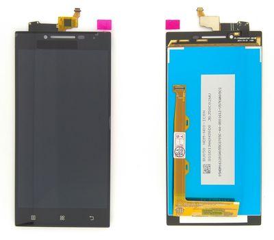 Модуль (сенсор и дисплей) Lenovo P70 черный ORIGINAL, фото 5