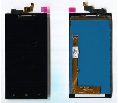 Модуль (сенсор и дисплей) Lenovo P70 черный ORIGINAL, фото 4