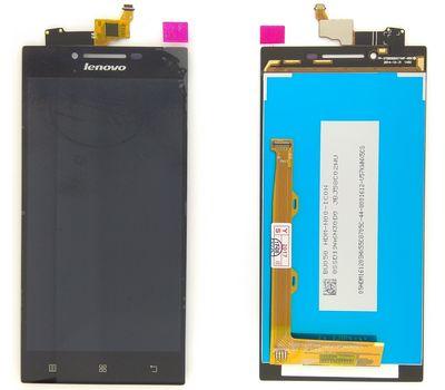 Модуль (сенсор и дисплей) Lenovo P70 черный ORIGINAL, фото 2